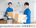 蓝领工人 工人 搬家 34688531
