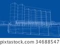 Industrial buildings. Vector 34688547