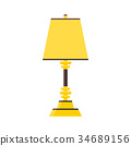 Lamp in vector style flat. Yellow or gold color 34689156