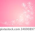 노트 음악 배경 일러스트 핑크 34690897