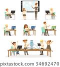 School children at the informatics and programming 34692470