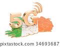 Ireland, concept, map 34693687