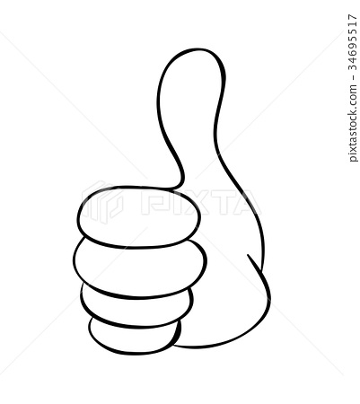 hand thumb up cartoon vector symbol icon design stock illustration 34695517 pixta cartoon vector symbol icon design