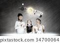space, boy, woman 34700064