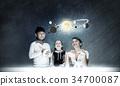 space, boy, woman 34700087