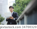 business man computer 34700320