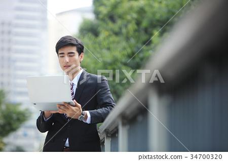 商务人士 商人 男性白领 34700320
