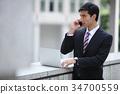 商务人士 商人 男性白领 34700559