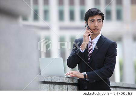 商务人士 商人 男性白领 34700562