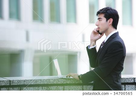 商务人士 商人 男性白领 34700565