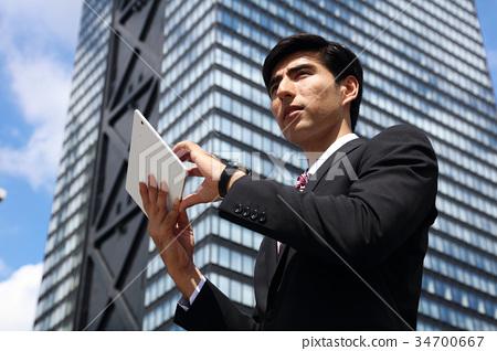 商务人士 商人 男性白领 34700667