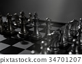 Chess board game concept of business team  34701207