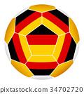 Soccer ball with German flag 34702720