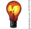 Vector electric bulb 34702723
