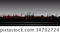 Abstract industrial landscape 34702724