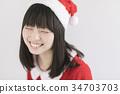 圣诞老人 圣诞老公公 女性 34703703