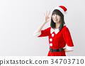 圣诞老人 圣诞老公公 女性 34703710