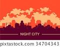cityscape vector background 34704343