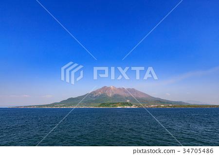 Sakurajima-来自Sakurajima渡轮船 -  34705486
