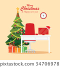 christmas, workplace, new 34706978
