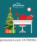 christmas, office, workplace 34706981