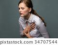 심장, 여성, 여자 34707544
