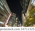 나고야 고층 빌딩 야경 34711325