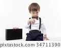 유아, 서류가방, 나비넥타이 34711390