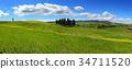 landscape, field, hill 34711520