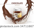 vector, background, chocolate 34711667