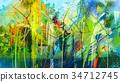 抽象 帆布 多彩 34712745
