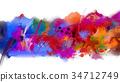 抽象 帆布 多彩 34712749
