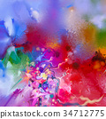 抽象 帆布 多彩 34712775