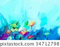 抽象 帆布 顏色 34712798