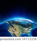 USA 3d rendering planet 34713336
