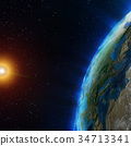 Earth from space 3d rendering 34713341