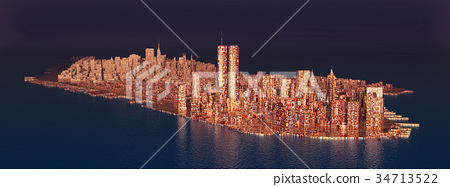 Island Manhattan in the 1990s 34713522
