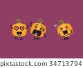 Funny pumpkin character 34713794