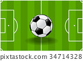 sg171004-Soccer ball with soccer field background 34714328