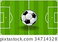 ฟุตบอล,พื้นหญ้า,ทุ่งนา 34714328