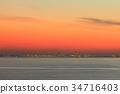 sunset, evening, scene 34716403