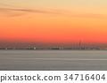 sunset, evening, scene 34716404