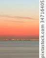 sunset, evening, scene 34716405