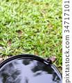 black rain water conservation plastic bucket  34717101