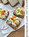 open sandwich, food, cooked 34719149