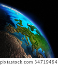 Earth from space 3d rendering 34719494