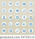 icon, web, vector 34720115