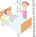 의료 간호사와 누워 남성 환자 34721877