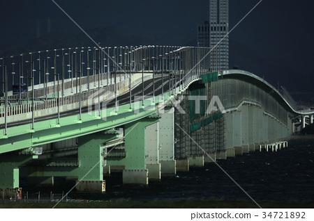 黃昏關西國際機場連接橋 34721892