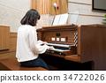 건반악기, 악기, 여자 34722026